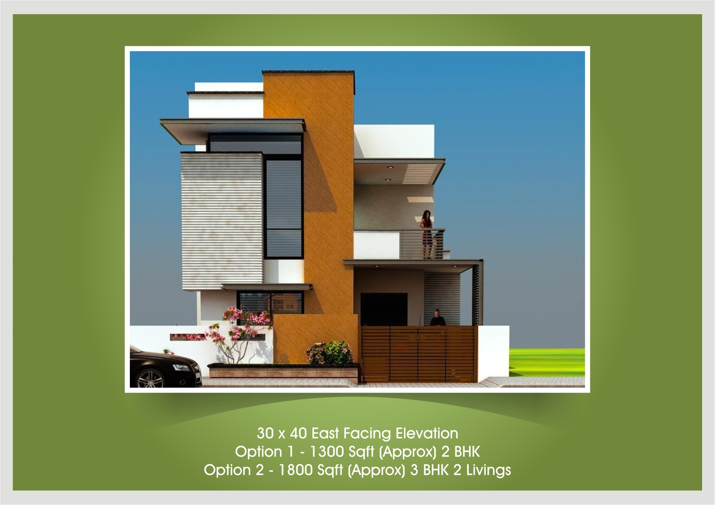 20 x 30 east facing duplex house plan