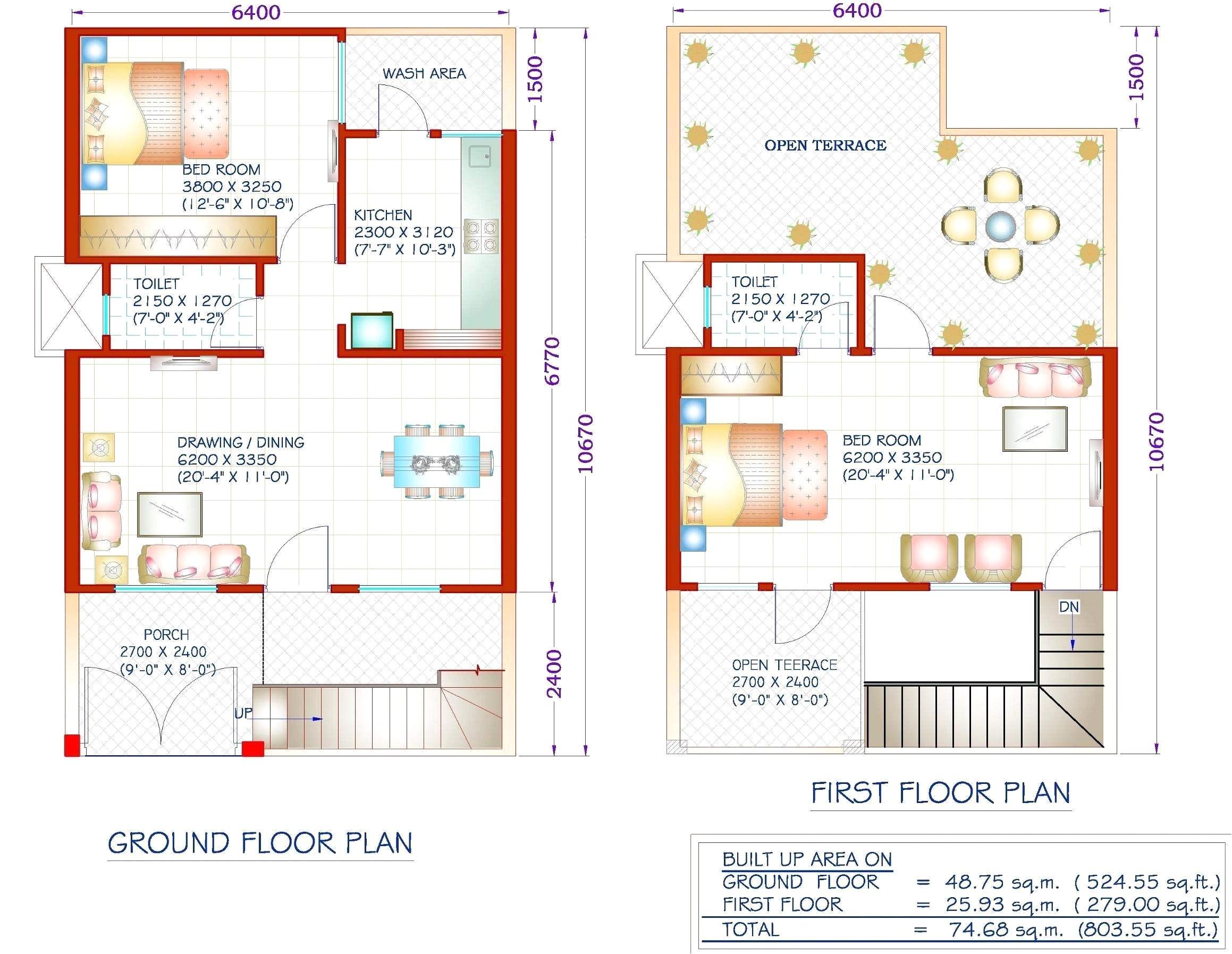 20 x 40 duplex house plans east facing