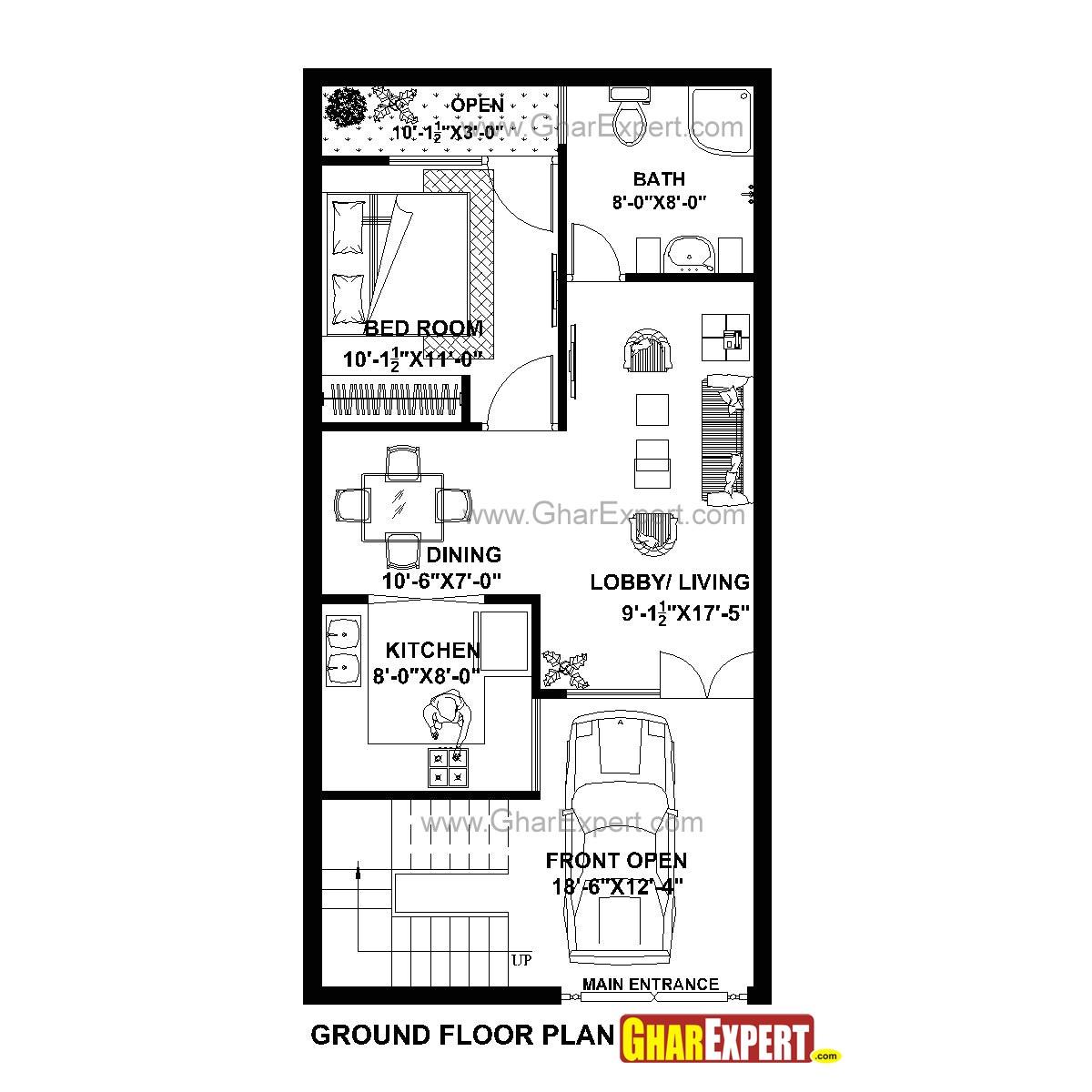 20 x 40 duplex house plans