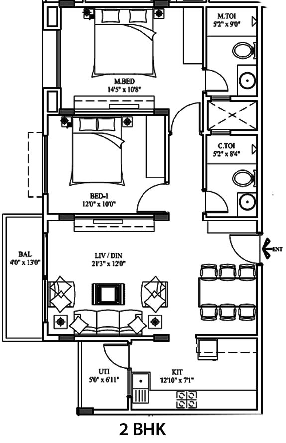 20 x 40 house plans india