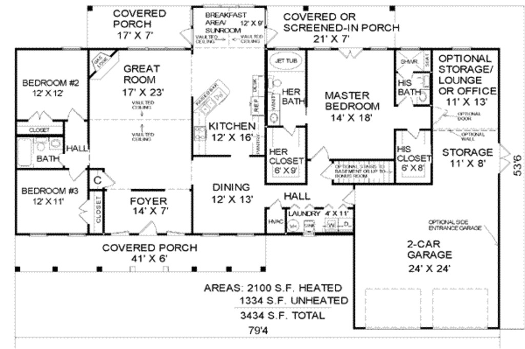 2100 square feet 3 bedrooms 3 bathroom traditional house plans 2 garage 4839