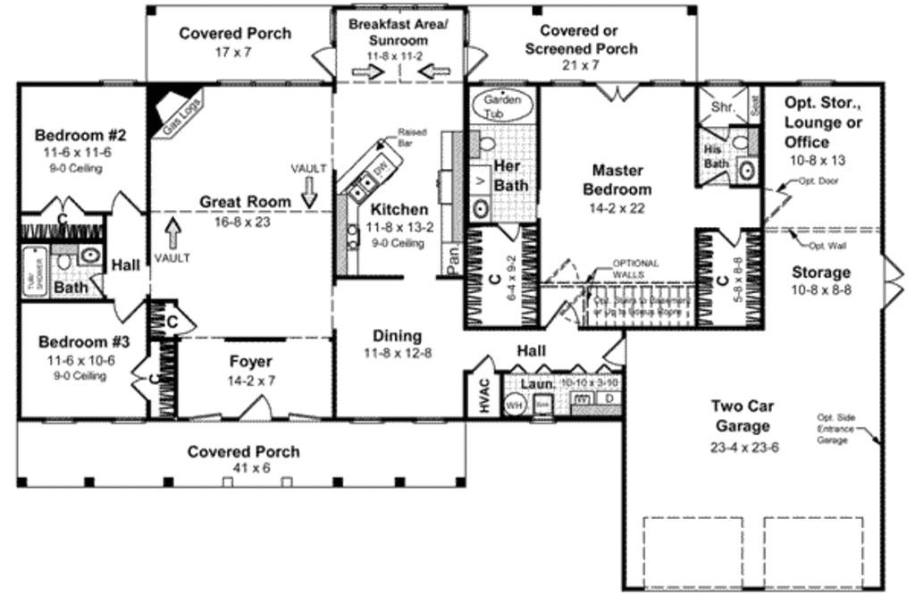2100 square feet 3 bedrooms 2 bathroom farm house plans 2 garage 18423