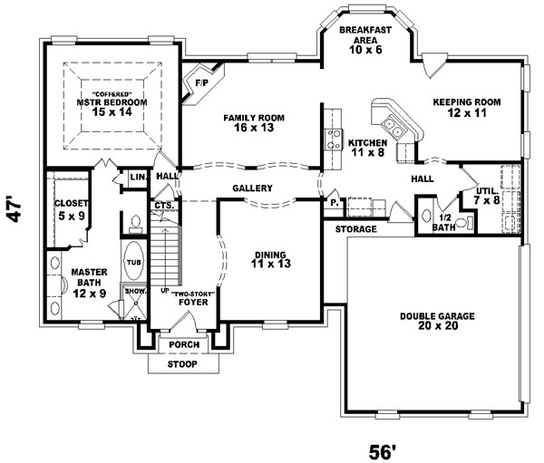 2300 sq ft home 2 story 3 bedroom 2 bath house plans plan6 458
