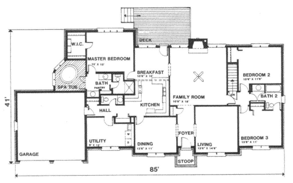 2300 square feet 3 bedrooms 2 5 bathroom ranch house plans 2 garage 12575