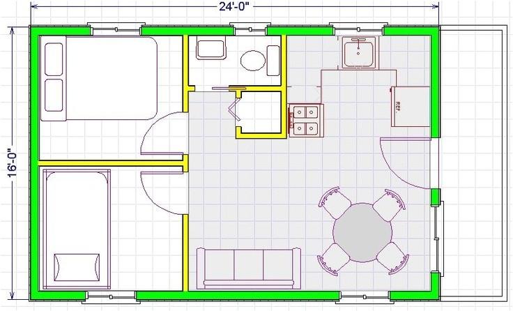 16x24 house plans