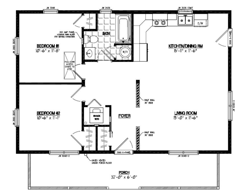 cottage plans 24 x 30