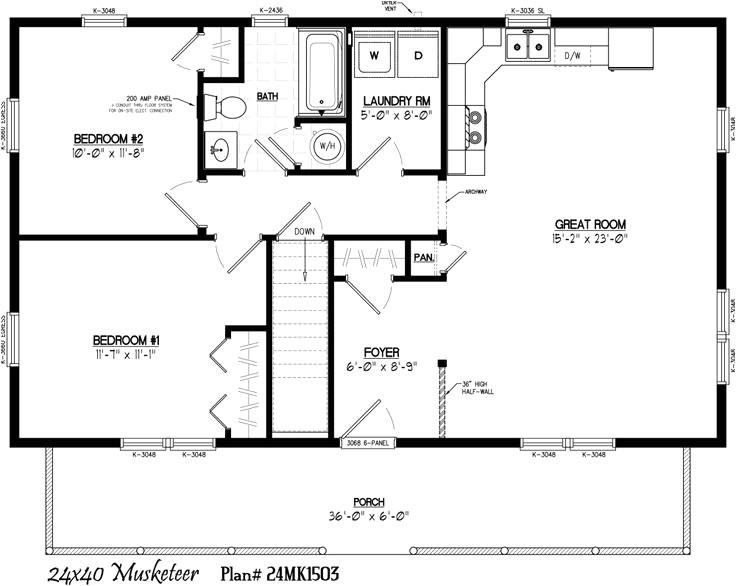 24x40 house plans