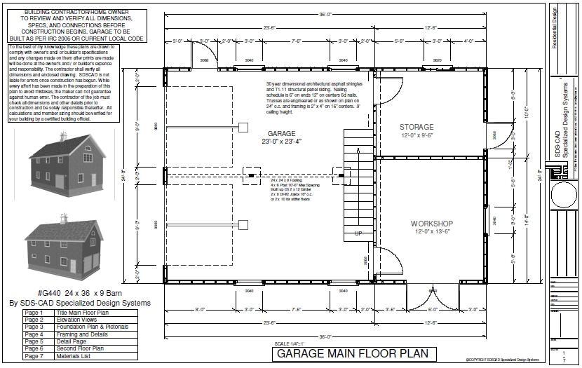 24x36 Pole Barn House Plans | plougonver.com