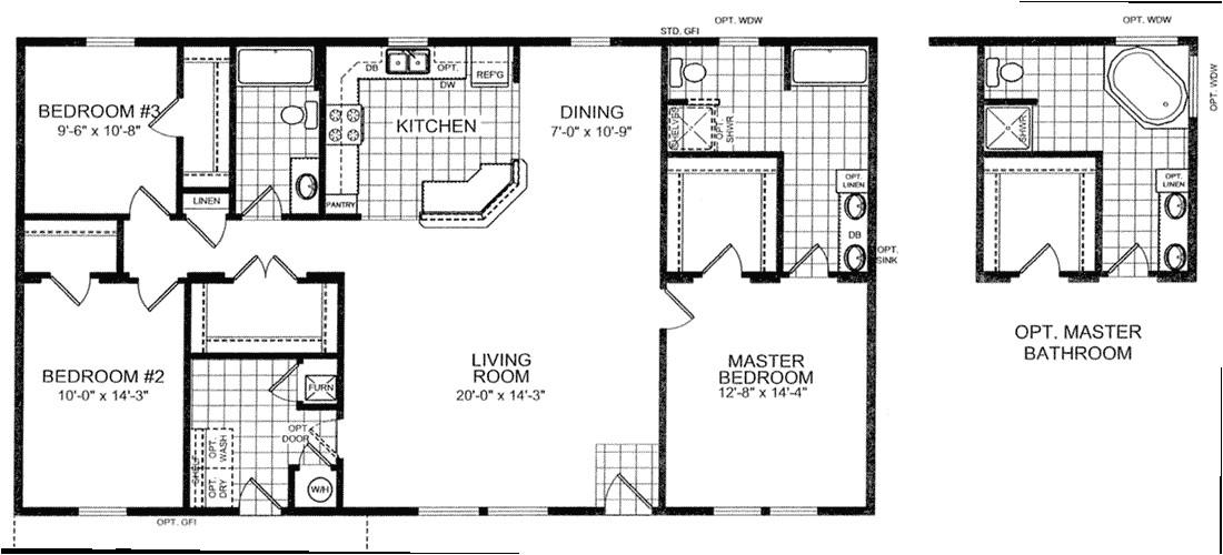 2 bedroom 30x40 house plans
