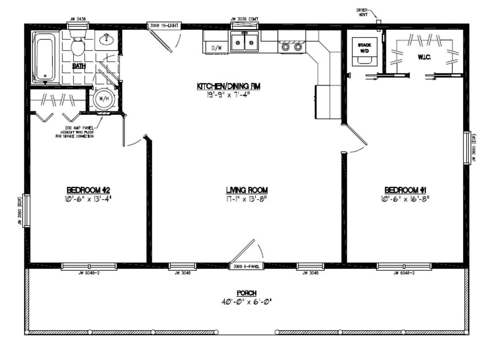 24 x 40 house plans