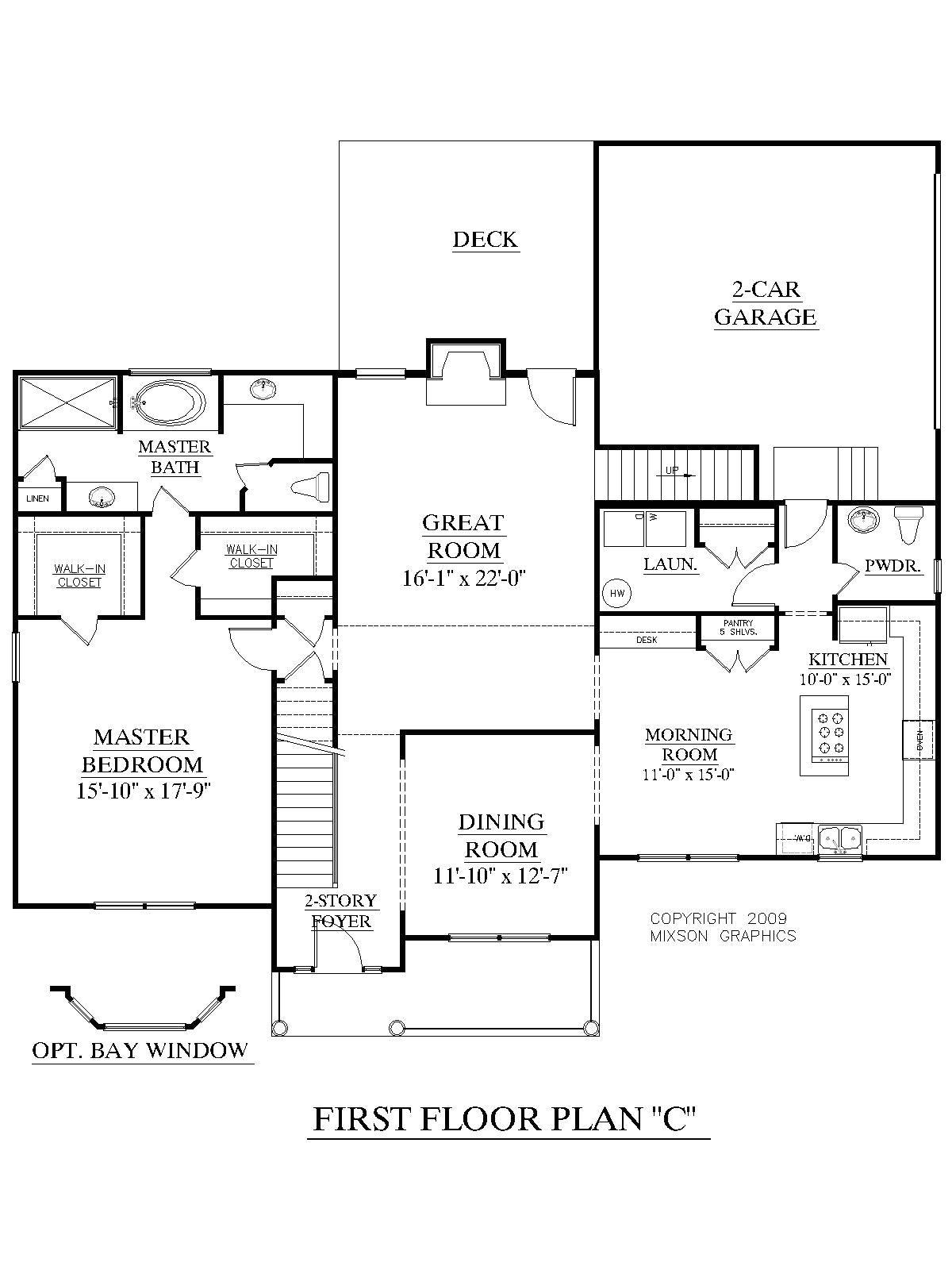 3 bedroom first floor house plans