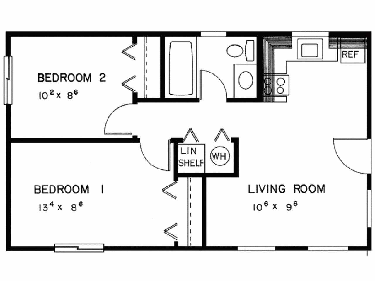 40772913e04164f0 2 bedroom house simple plan two bedroom house plans designs
