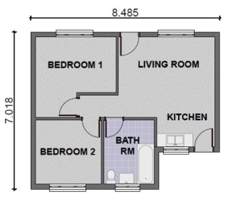 2 bedroom contemporary house plans
