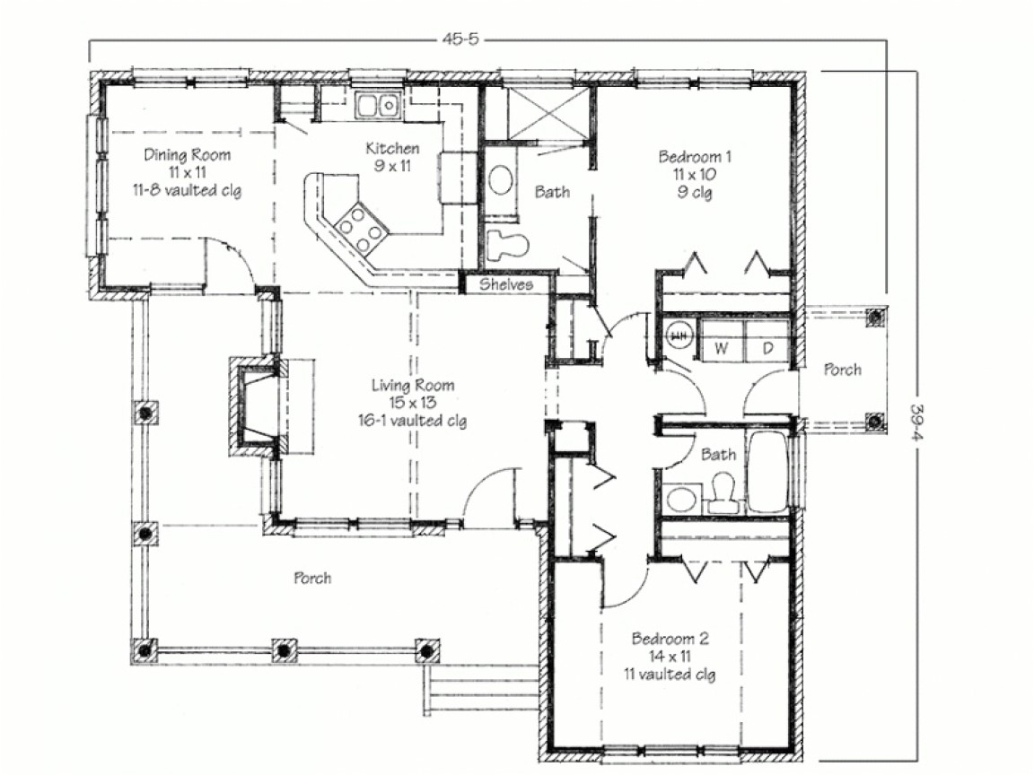 db1aca0e45f06158 two bedroom house simple floor plans house plans 2 bedroom flat