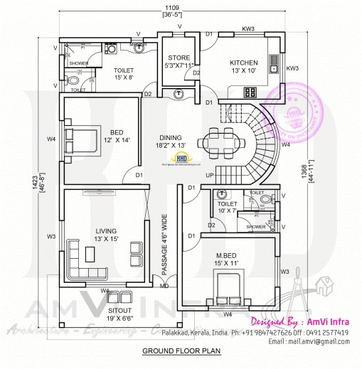 hd 2d house plan pics