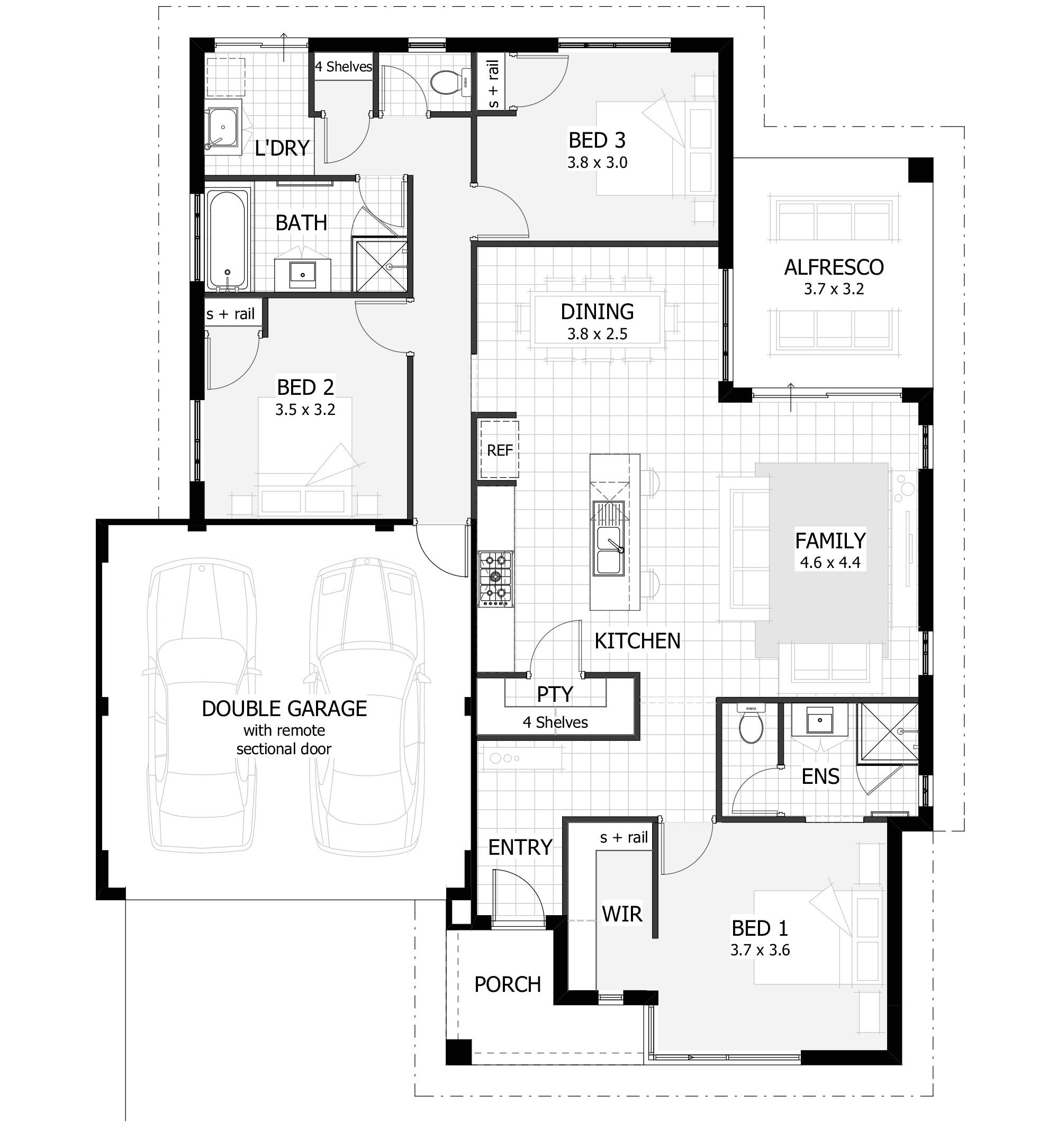 3 bedroom home designs plans