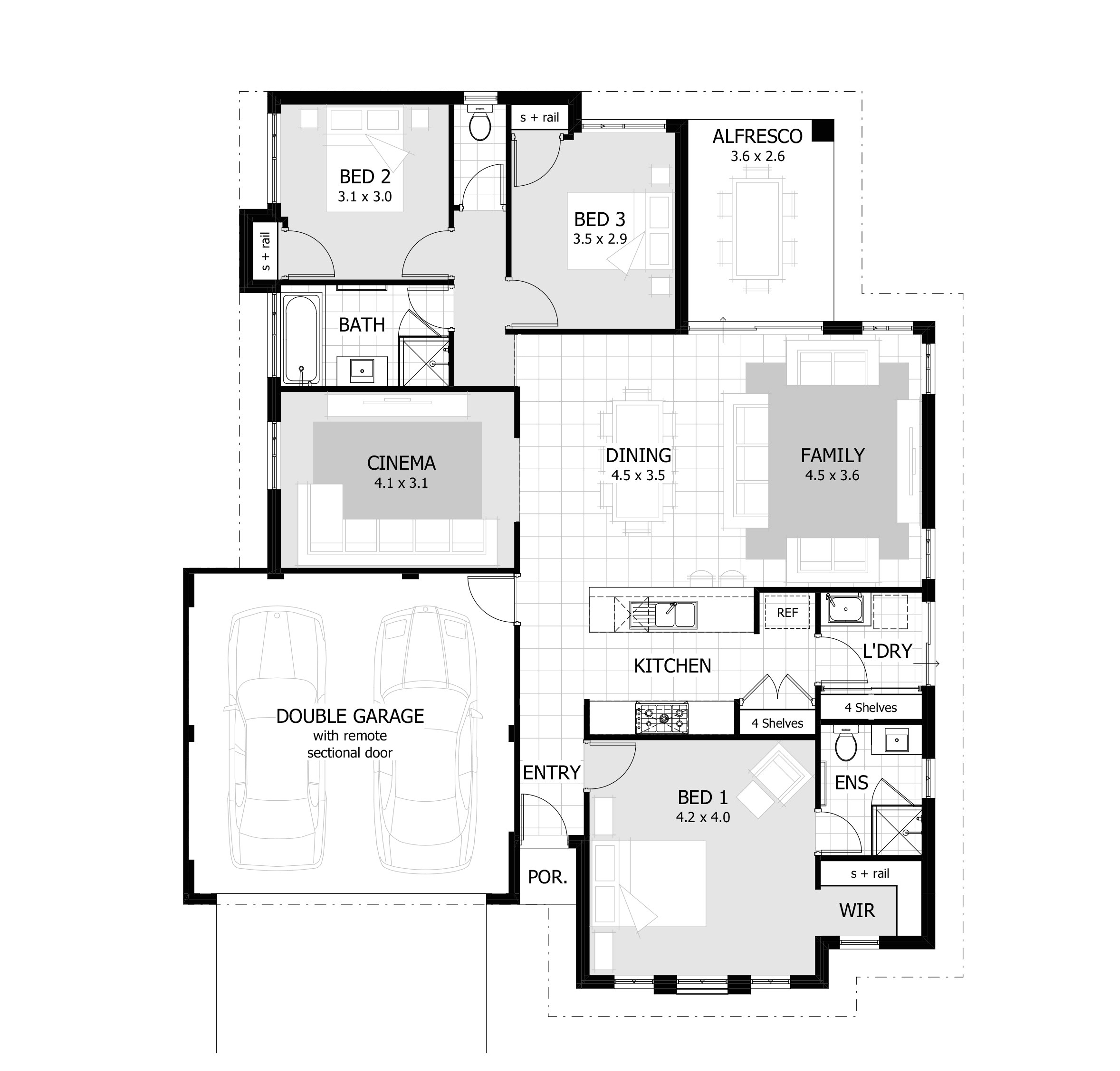 simple 3 bedroom house plans without garage simple 3 bedroom house plans without garage
