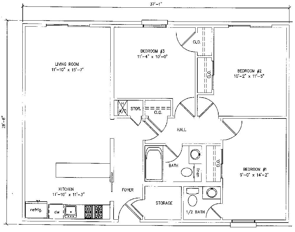 3 Bedroom House Plans Under 1000 Sq Ft 3 Bedroom House Plans Under 1000 Square Feet 2018 House