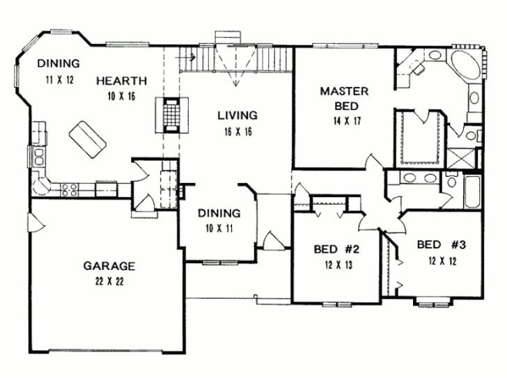 3 bedroom ranch house floor plans