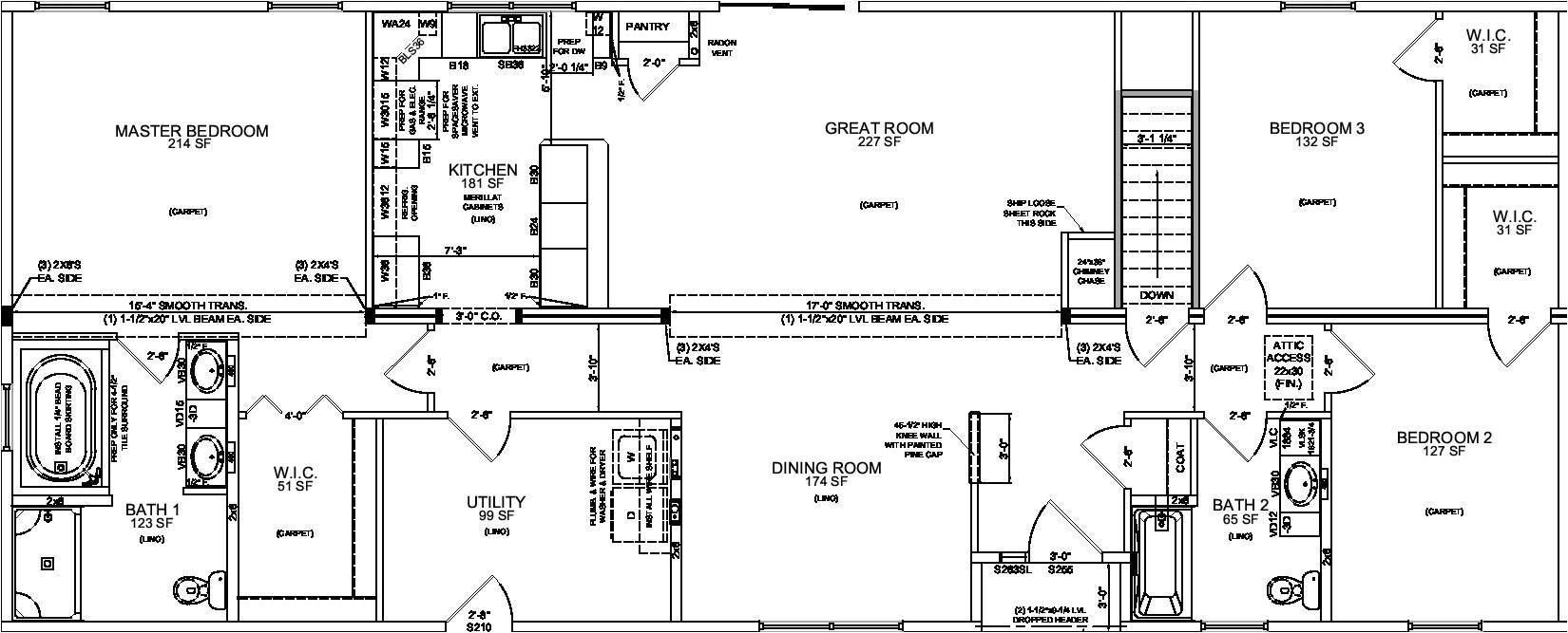 3 bedroom ranch style house plans