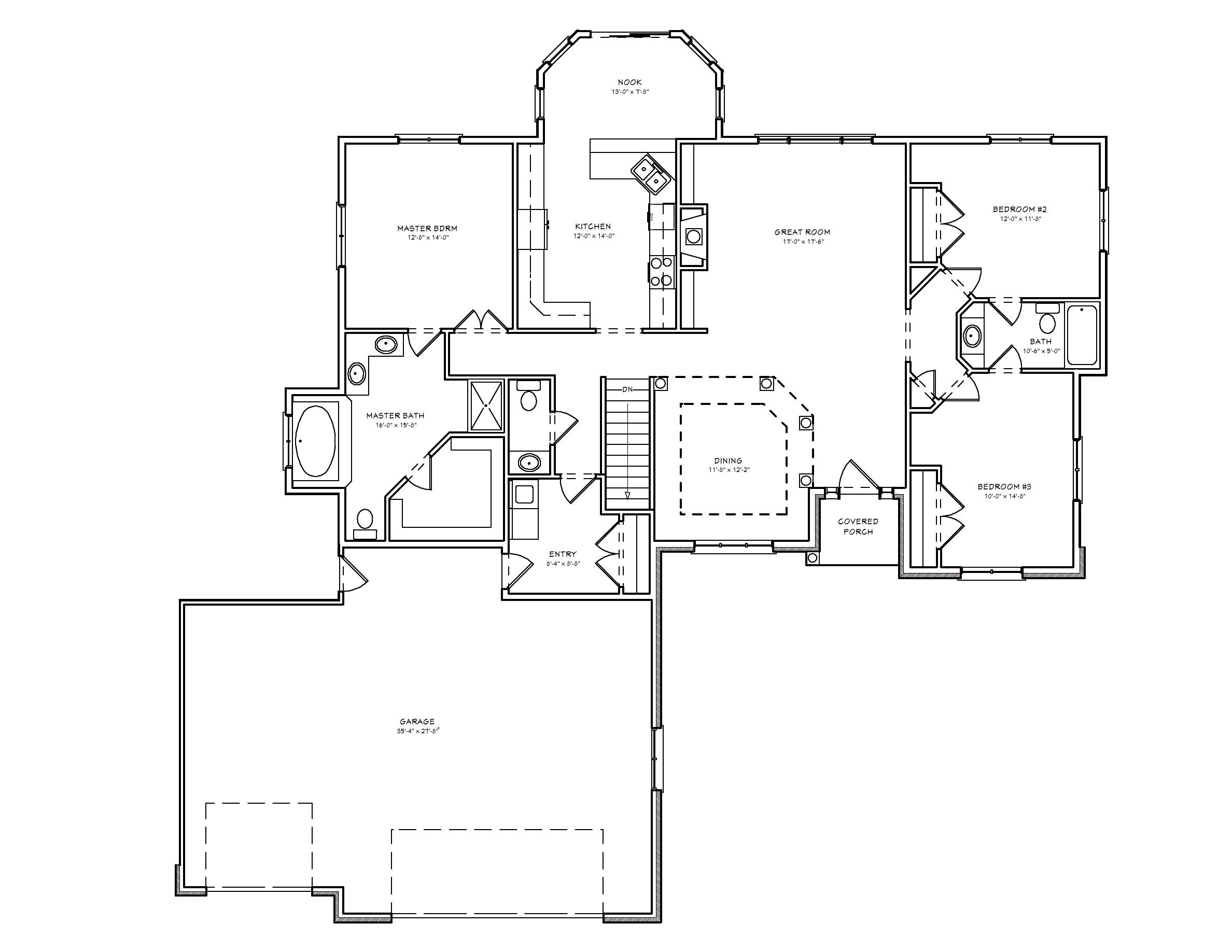 split bedroom ranch house plan d67 1968