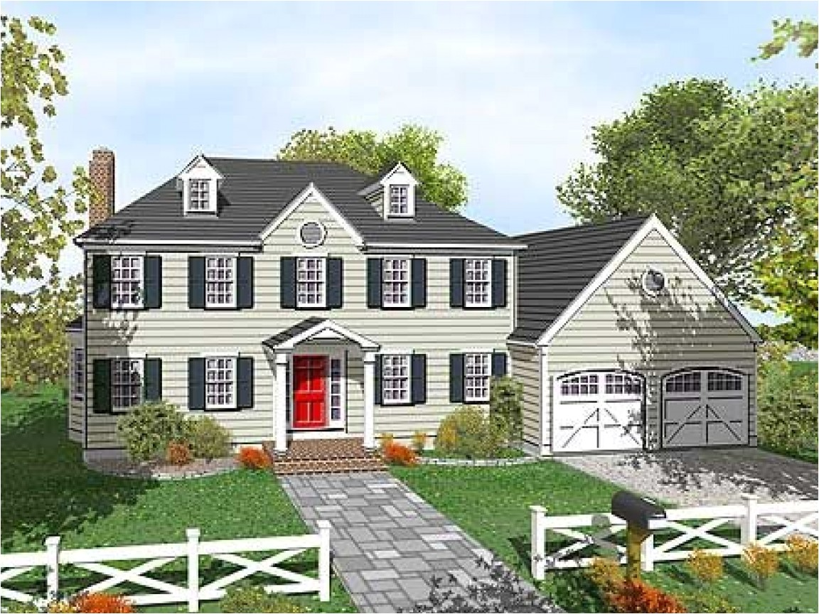 2 story colonial house plans