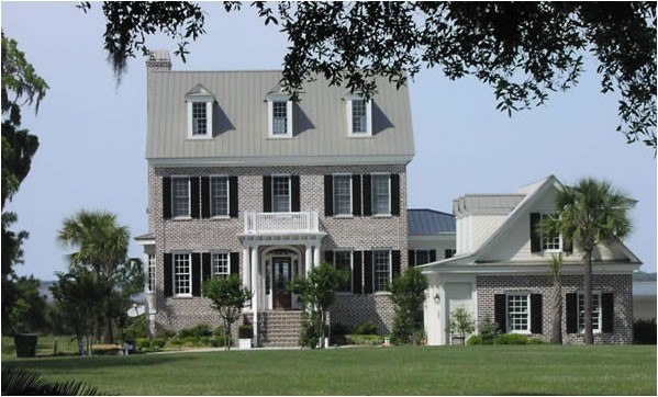 southern colonial three story home