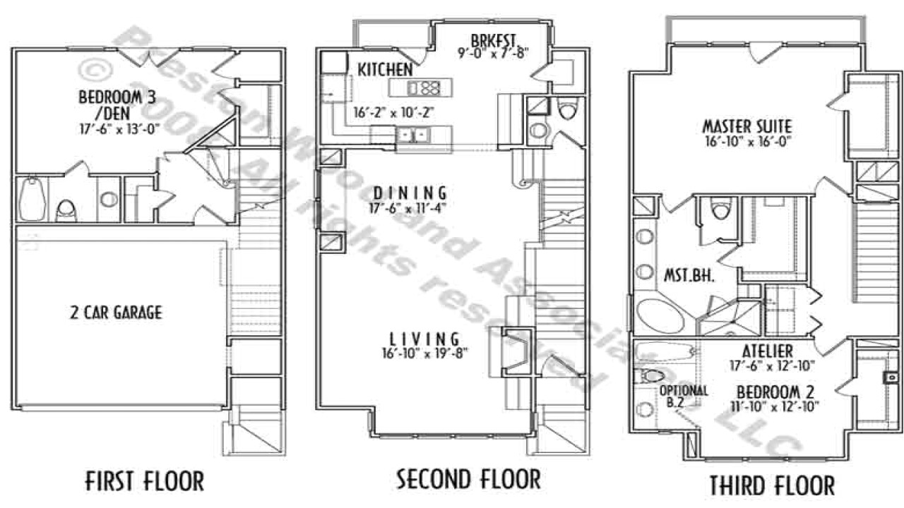 423daca081625f12 3 story narrow lot house plans luxury narrow lot house plans