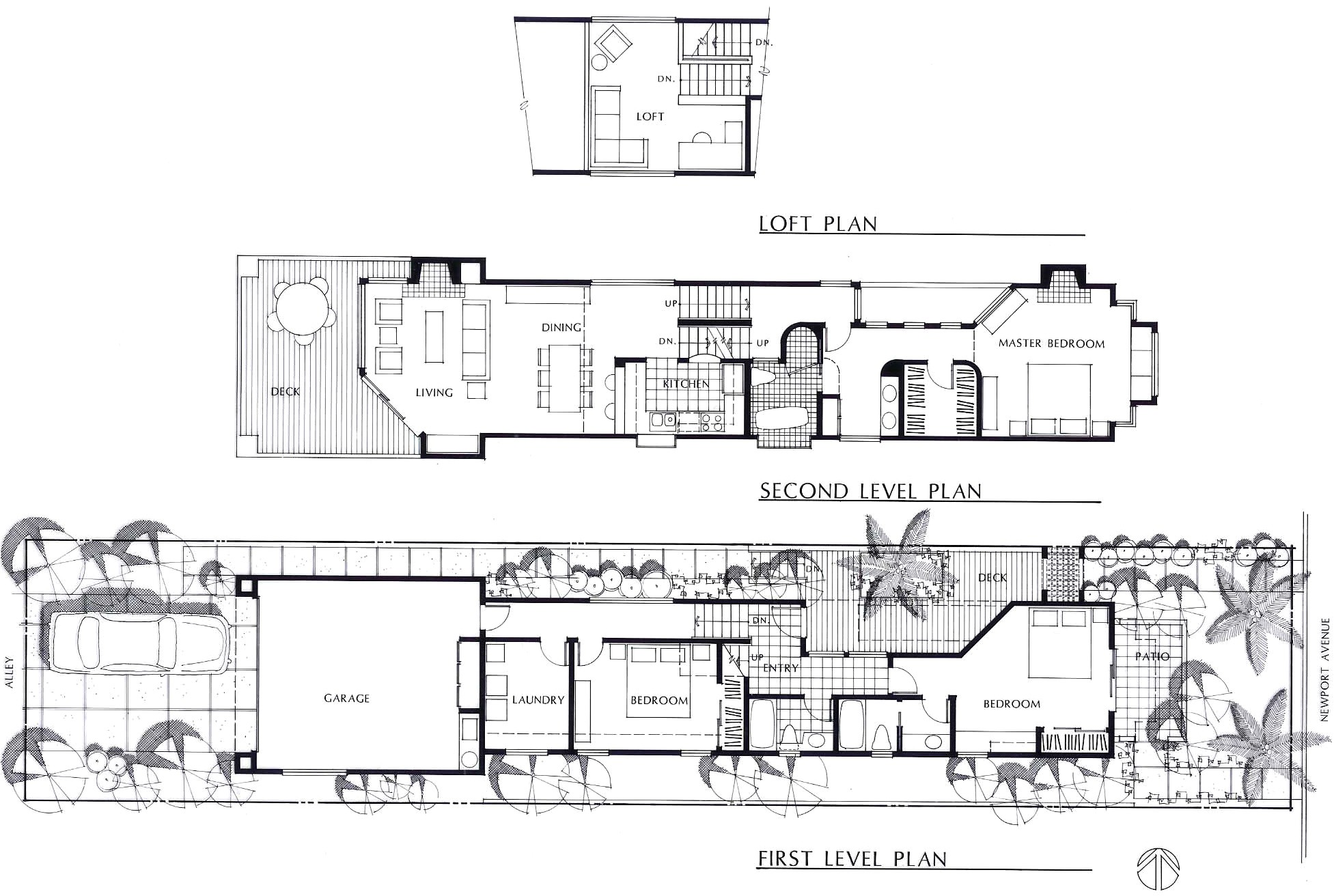 narrow lot 3 story house plans