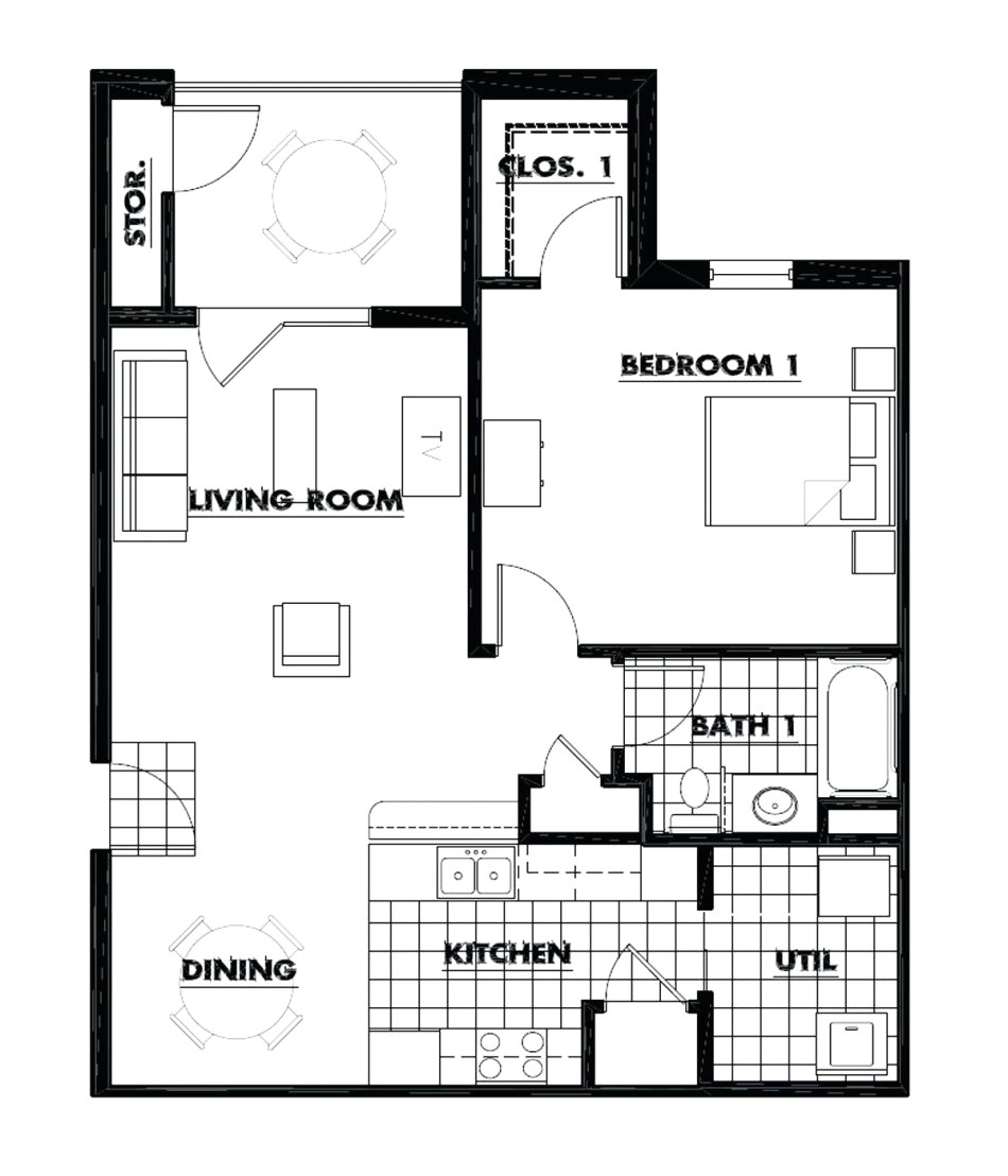 4 bedroom house plans 300 square feet