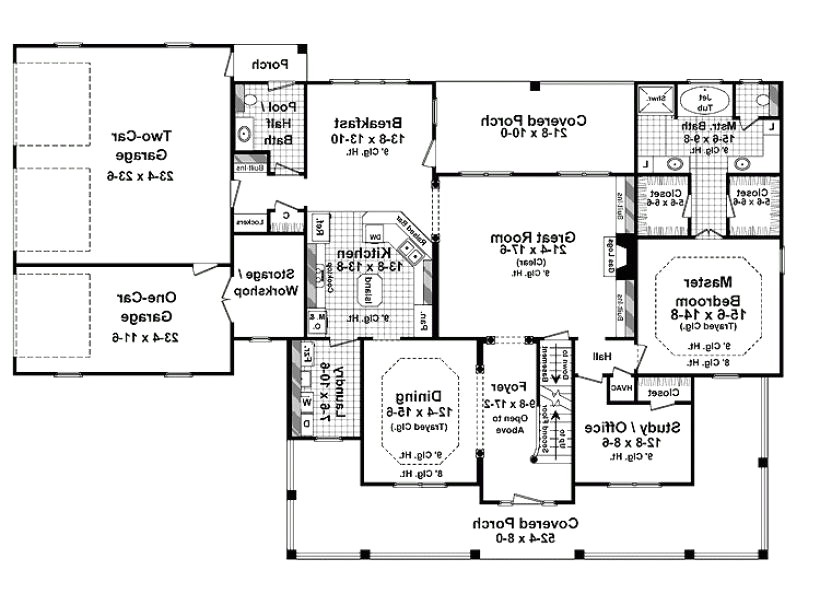 3000 sq ft single story house plans