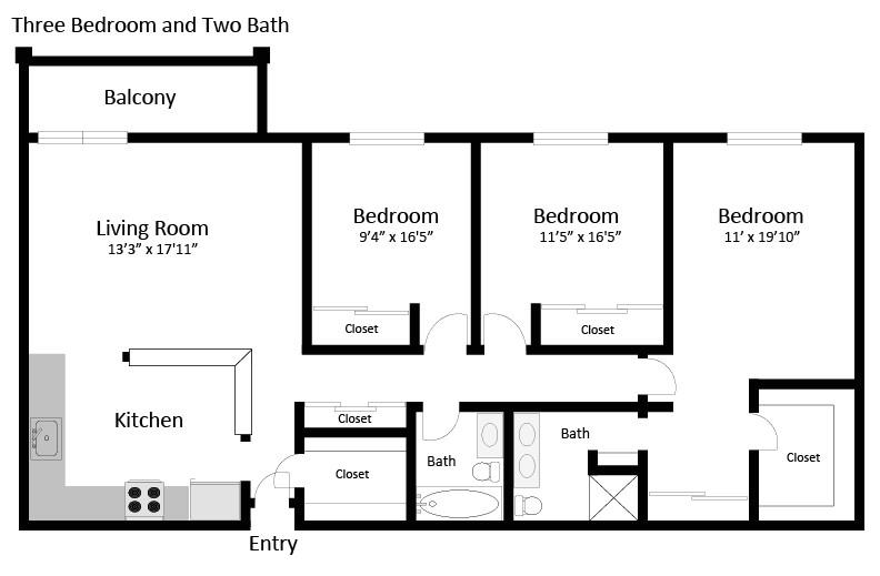 3 br 2 ba floor plans