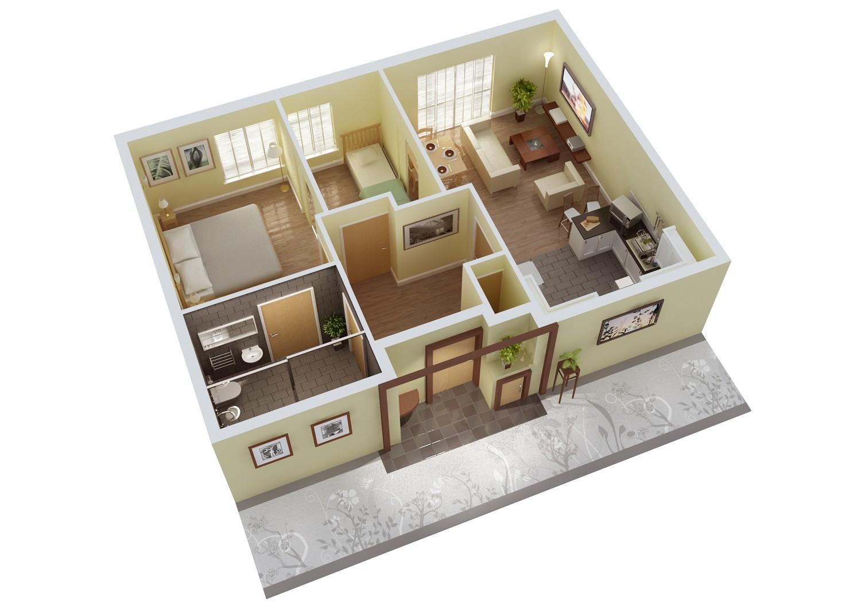3d Home Plan Mathematics Resources Project 3d Floor Plan