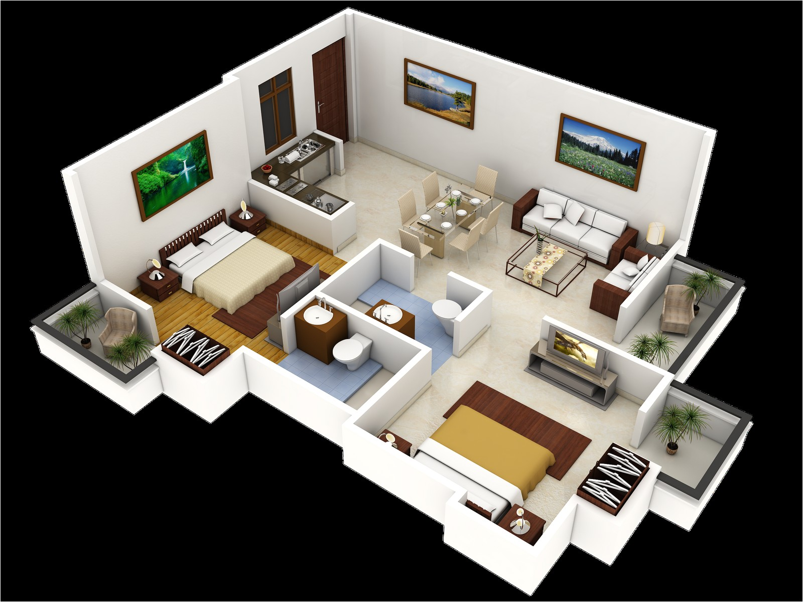 residencial 3d elevation