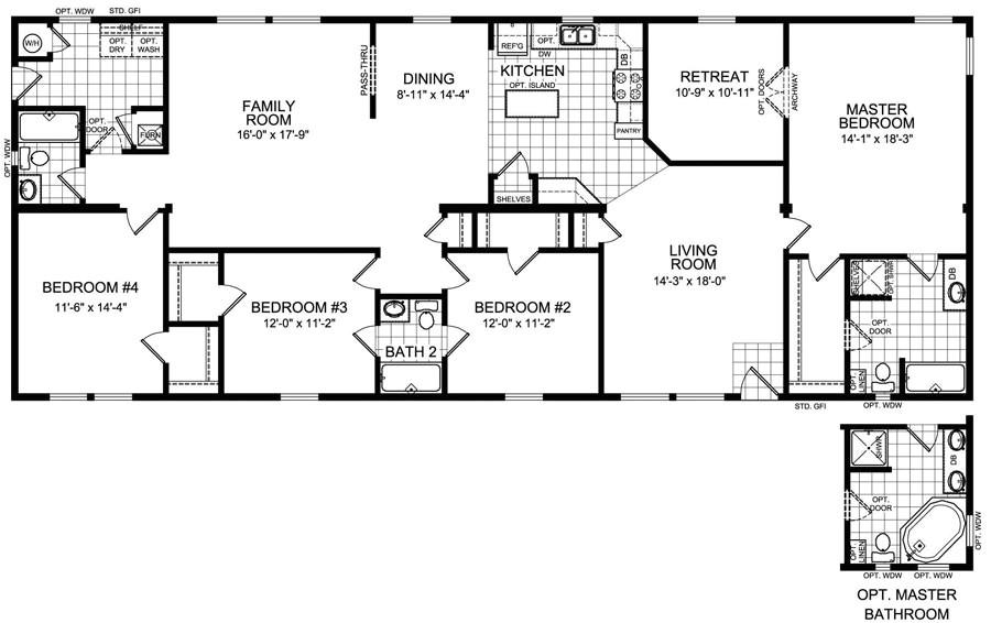 4 bedroom modular home plans
