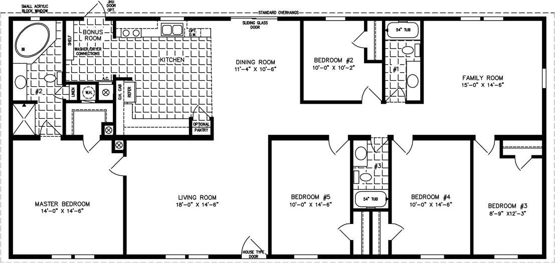4 5 Bedroom Mobile Home Floor Plans 2 5 Bedroom Mobile Home Floor Plans 6 Bedroom Double Wides