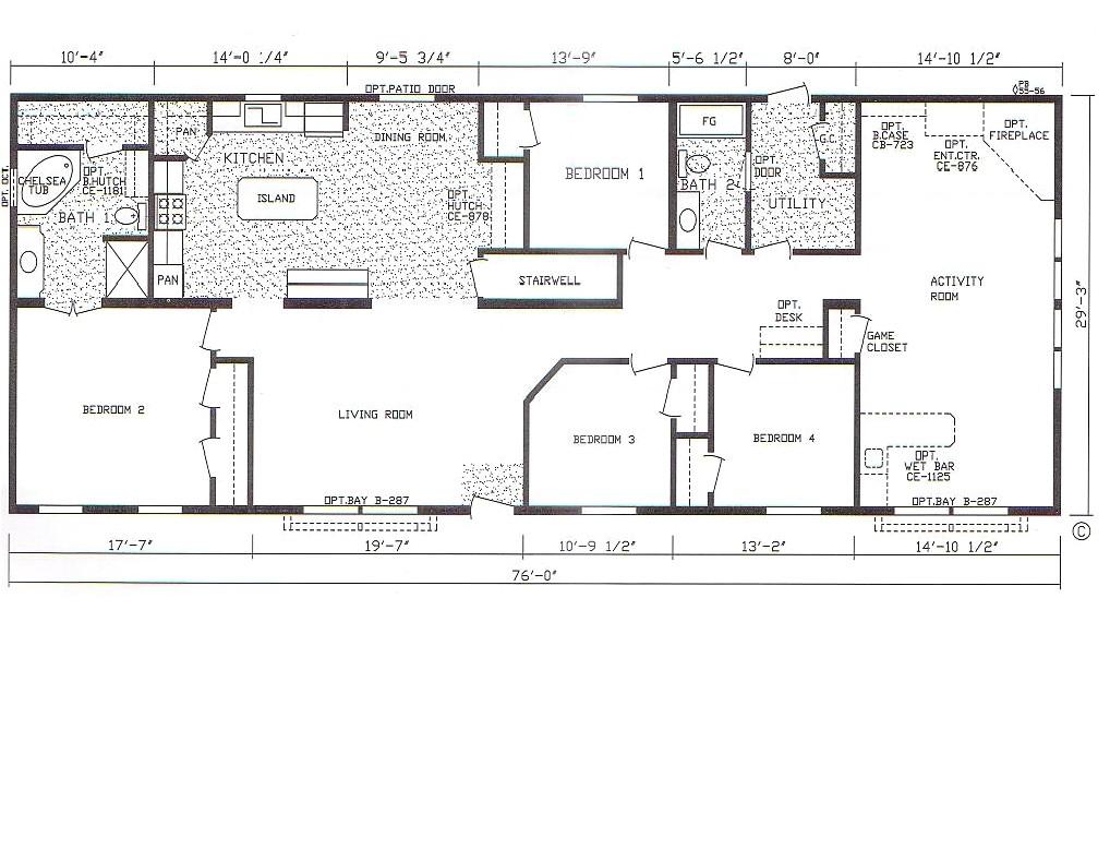 bedroom bath mobile home also 4 double wide floor plans