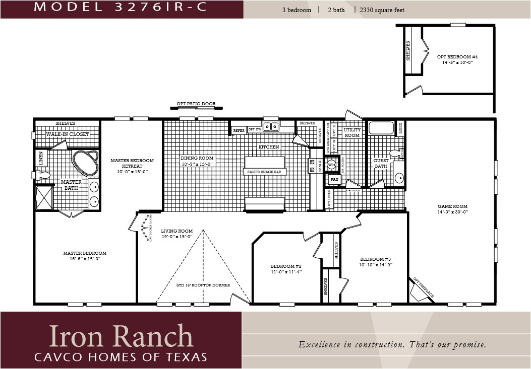 4 Bedroom 2 Bath Mobile Home Floor Plans 3 Bedroom Ranch Floor Plans Large 3 Bedroom 2 Bath