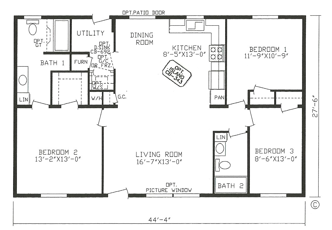 4 Bedroom 2 Bath Mobile Home Floor Plans 4 Bedroom 3 Bathroom Mobile Home Floor Plans