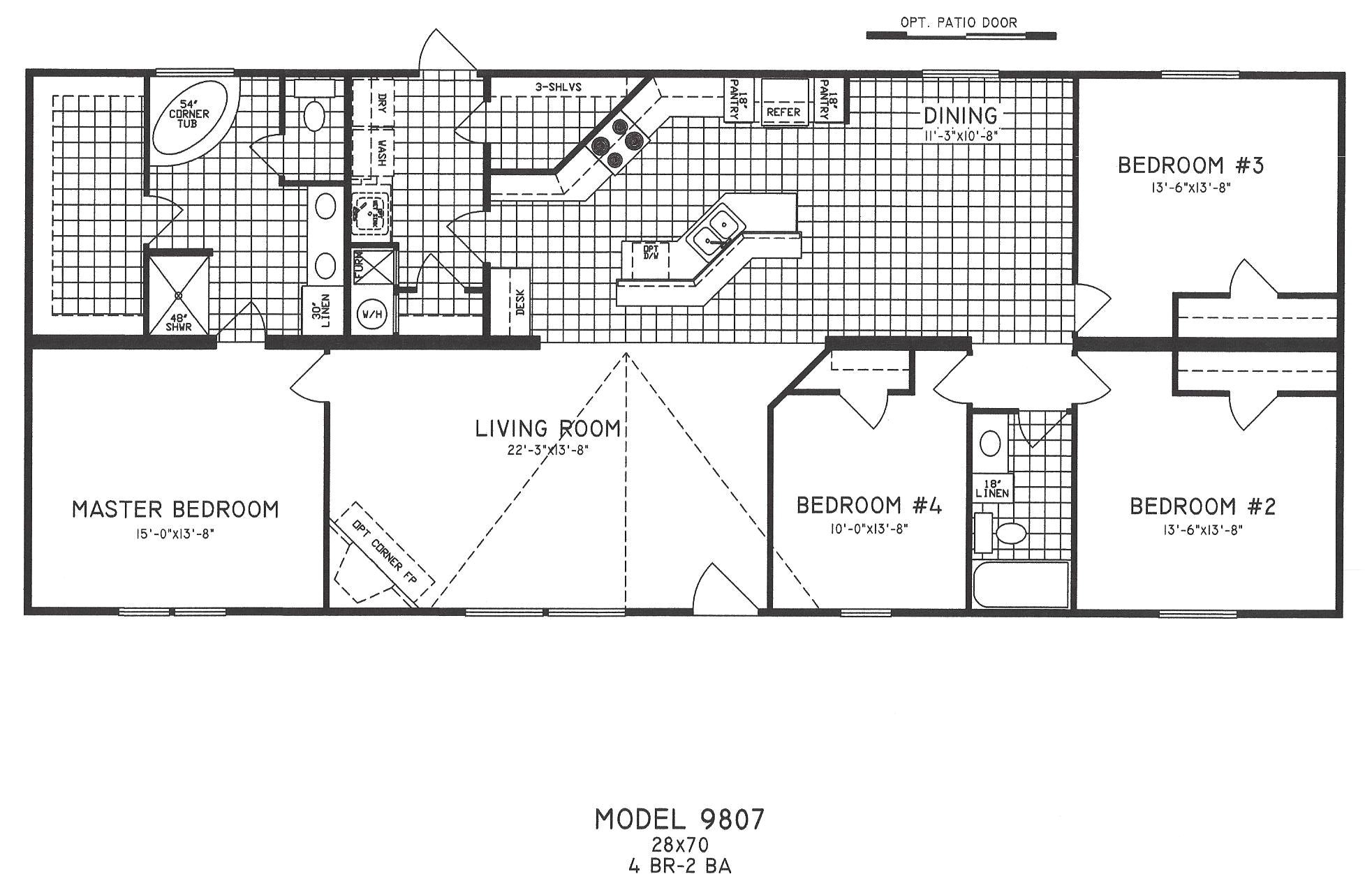 4 bedroom floor plan c 9807