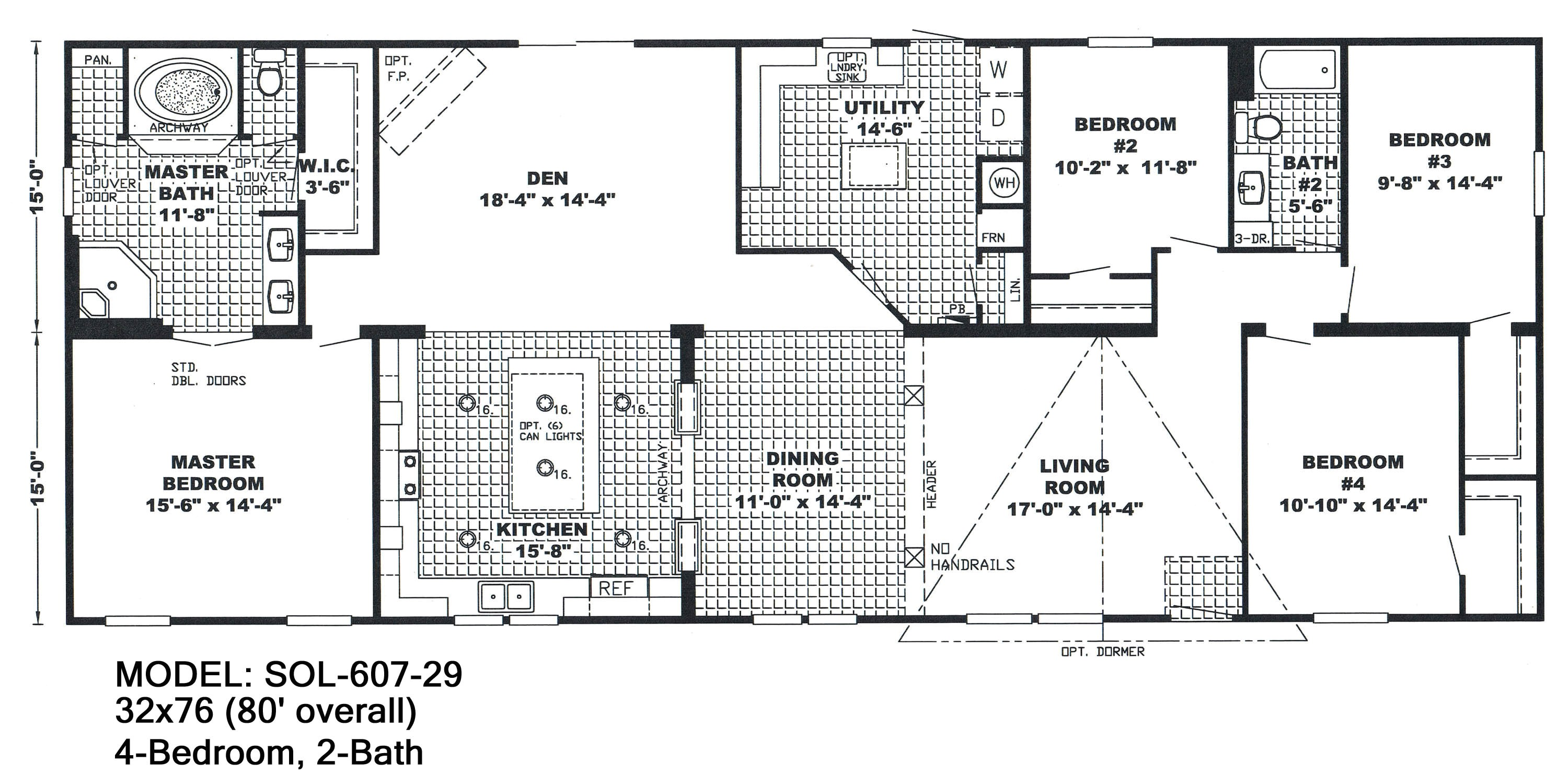 double wide floor plans 4 bedroom 3 bath