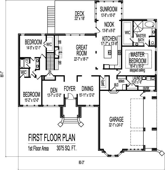 3 bedroom 2 bath house plans with basement fresh house plans with 2 bedrooms on 1st floor
