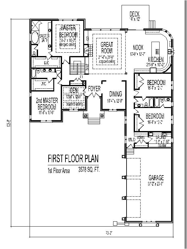 798224 3500 sf 4 bedroom single story home plan 3 bath basement garage 3 car chicago peoria nice four bedroom house plans with basement 4