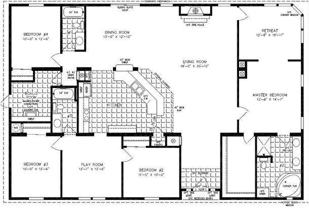 4 Bedroom Mobile Home Floor Plans 4 Bedroom Modular Homes Floor Plans Bedroom Mobile Home
