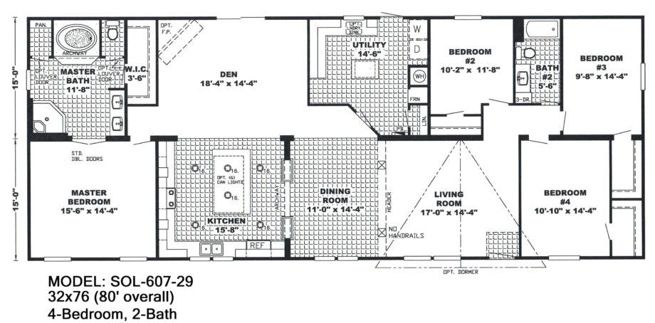 double wide mobile home floor plans bedroommobilehomefloor with 4 bedroom