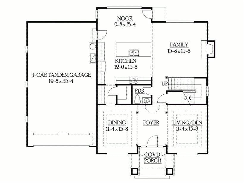 modern foursquare house plans
