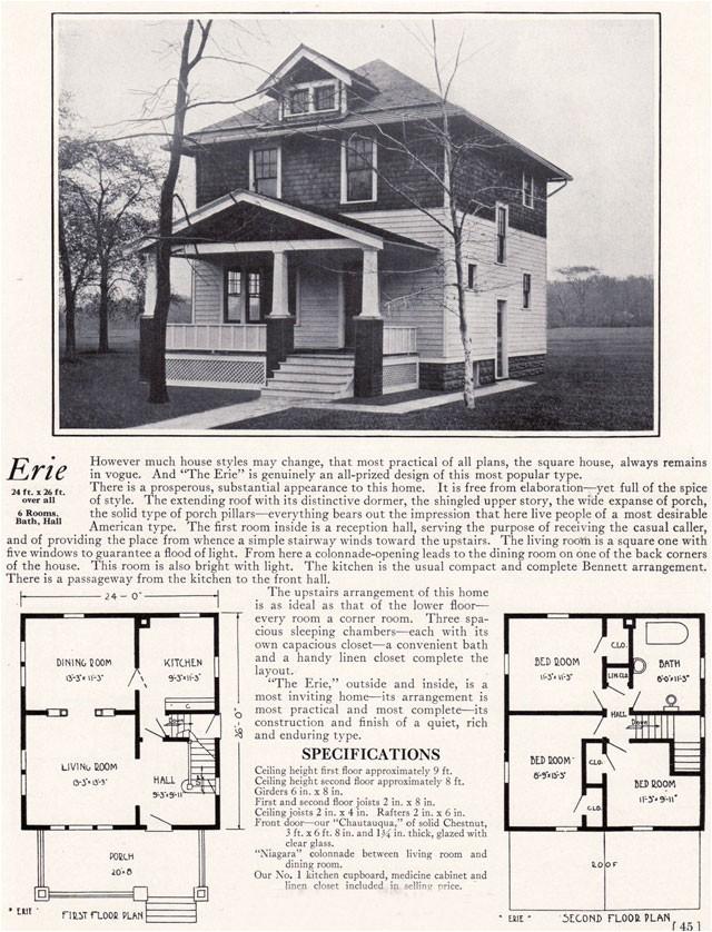 four square house floor plan