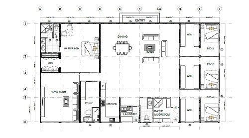 40 ft container house plans