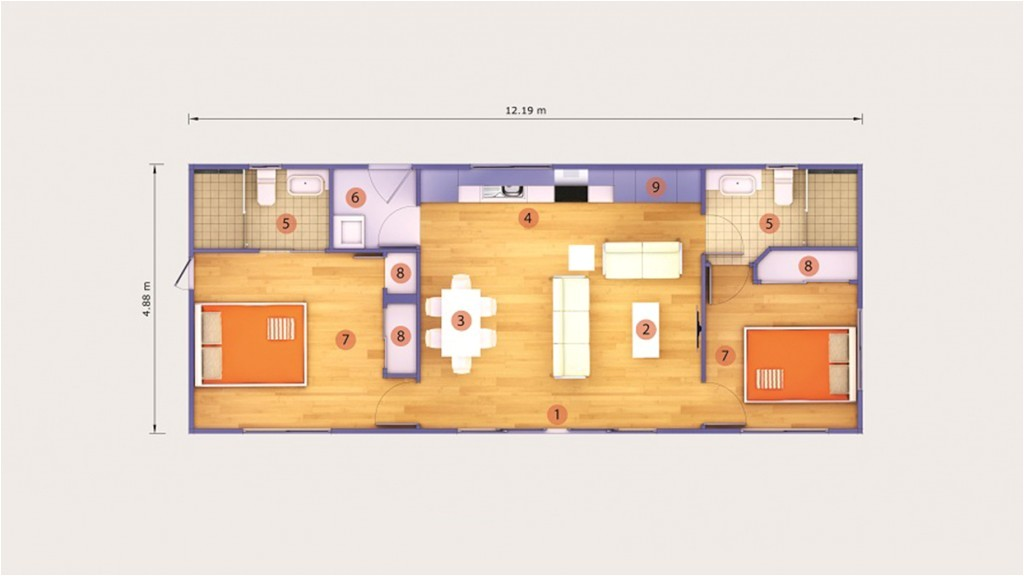 40 foot container home plans