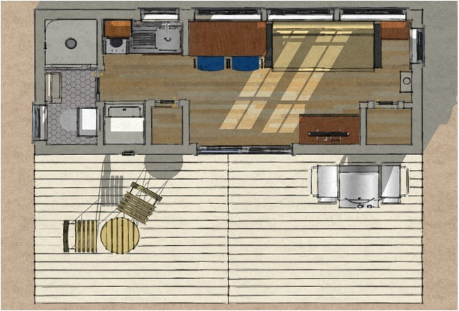 40 ft container home plans